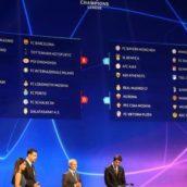 Sorteggi Champions League: girone di ferro per Napoli e Inter, bene Juventus e Roma