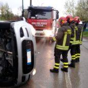 Incidente stradale a Parolise:donna ricoverata al Moscati