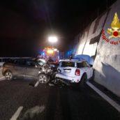 Monteforte Irpino, incidente sull'A16 : un ferito