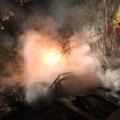 Pago Vallo Lauro, incendio di un cumulo di rifiuti