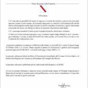 Ariano Irpino, nuova ordinanza del Governatore De Luca