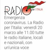 Radio Ufita e tutte le Radio d'Italia, unite per far fronte all'emergenza coronavirus!