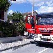 Melito Irpino, incendio in una cantina di un'abitazione del posto