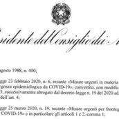Dpcm, Conte ha firmato il decreto