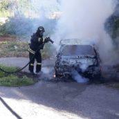 Montoro, incendio ad un'autovettura. Nessun ferito