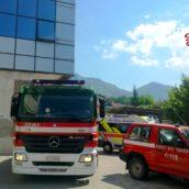 Incendio ad un Silos di una conceria a Solofra: lieve malore per un dipendente