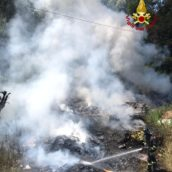 Video/Incendio in un fondo a Prata Principato Ultra