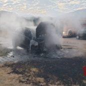 Auto in fiamme nella notte ad Atripalda. Indagini in corso