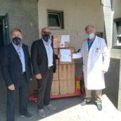 Donazione di presidi medici dalla Svizzera al Frangipane