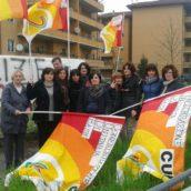 Presidio pacifico dei lavoratori ex consorzio di bacino alla riunione del consiglio Provinciale di Benevento