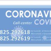 Covid-19, oltre 100 chiamate al call center
