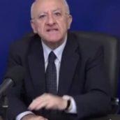 Dpcm Natale, De Luca: «In Campania spostamenti tra piccoli comuni vietati»