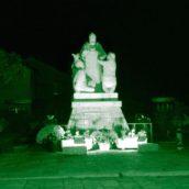 Prosegue il viaggio del Pino Irpino.Tra i monumenti illuminati di verde e la solidarietà di prossimità