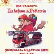 Befana in Pediatria al Moscati di Avellino per i Vigili del Fuoco