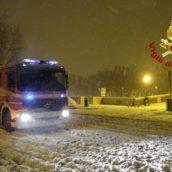 Neve in Irpinia, le varie operazioni dei Vigili del Fuoco