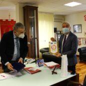 Provincia, il presidente Biancardi ha fatto visita al Comando dei Vigili del Fuoco di Avellino