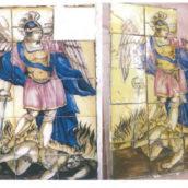 I Carabinieri restituiscono il pannello di San Michele Arcangelo del comune di Contrada a sette anni dal furto