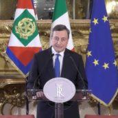 """Draghi: """"Vincere la pandemia, completare la campagna vaccinale, offrire risposte ai problemi quotidiani dei cittadini e rilanciare il Paese"""""""