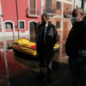 Celzi di Forino, Petracca sui luoghi dell'emergenza