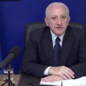 """De Luca: """"Governo chiarisca ad horas sulla utilizzabilità del vaccino Astrazaneca"""""""