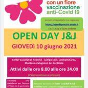 Open Day con J&J giovedì 10 giugno, da stasera sono aperte le iscrizioni