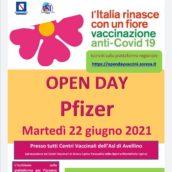 Open Day Pzifer martedì 22 giugno: dalle 20 aperte le prenotazioni