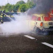 Baiano, fiamme sulla A16: illeso il conducente