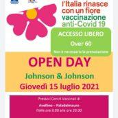 Open Day Johnson giovedì 15 luglio, accesso libero per over 60