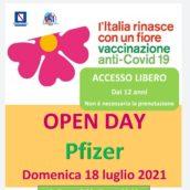 Open Day Pzifer domenica 18 luglio, accesso libero