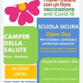 Campagna Vaccinale anti-Covid Scuola Sicura, domani il Camper dell'Asl al Liceo Virgilio Marone di Avellino