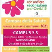 Campagna Vaccinale anti-Covid, venerdì e sabato il Camper della Salute al Campus 3 S