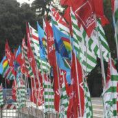 Ariano Irpino, manifestazione Unitaria delle sigle sindacali