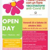 Campagna Vaccinale anti-Covid, Open Day 15 e 16 ottobre